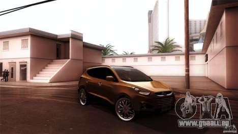 Hyundai iX35 Edit RC3D pour GTA San Andreas sur la vue arrière gauche