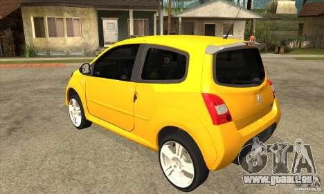 Renault Twingo RS 2009 pour GTA San Andreas sur la vue arrière gauche
