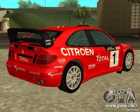 Citroen Xsara 4x4 T16 für GTA San Andreas Seitenansicht