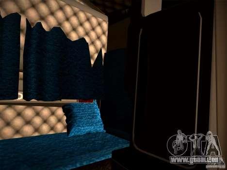 KenWorth T2000 v 2.8 pour GTA San Andreas vue intérieure