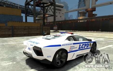 Lamborghini Reventon LCPD pour GTA 4 est un droit