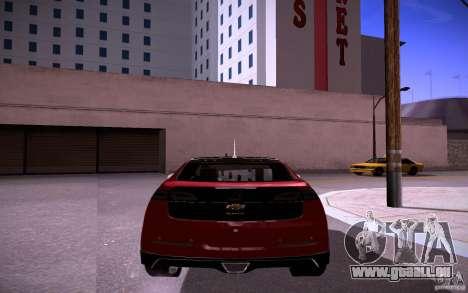 Chevrolet Volt für GTA San Andreas Rückansicht