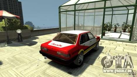 Audi 80 B2 Quattro Rally für GTA 4 hinten links Ansicht
