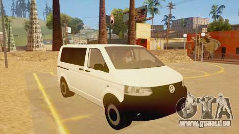 Volkswagen Transporter T5 Facelift 2011 für GTA San Andreas Rückansicht