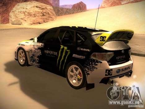 Subaru Impreza Gymkhana für GTA San Andreas rechten Ansicht