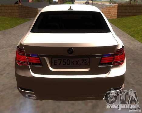 BMW 750Li 2010 pour GTA San Andreas vue de droite
