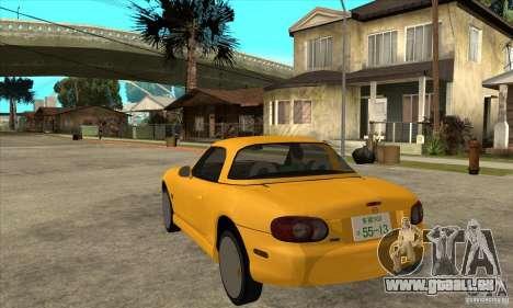 Mazda MX-5 JDM Coupe pour GTA San Andreas sur la vue arrière gauche