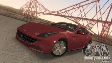 Ferrari FF 2011 V1.0 pour GTA San Andreas vue intérieure