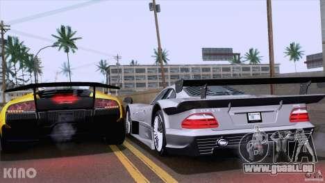 Mercedes-Benz CLK GTR Road Carbon Spoiler pour GTA San Andreas vue arrière