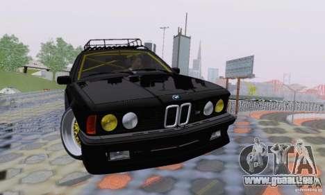 BMW M635CSi Stanced für GTA San Andreas Unteransicht