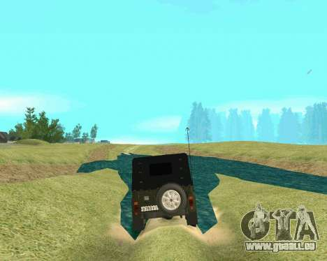 UAZ 31512 pour GTA San Andreas laissé vue
