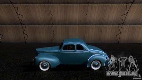 Ford Deluxe Coupe 1940 pour GTA San Andreas laissé vue