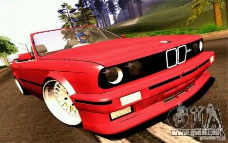 BMW E30 M3 Cabrio für GTA San Andreas zurück linke Ansicht