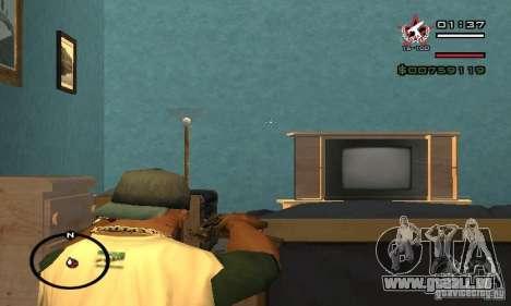 Uzi de COD4 MW pour GTA San Andreas quatrième écran