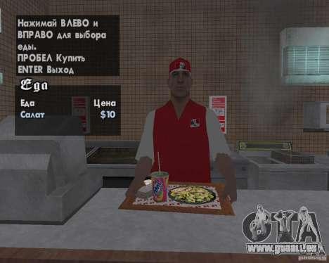 Nouvelles textures, des restaurants et des bouti pour GTA San Andreas sixième écran