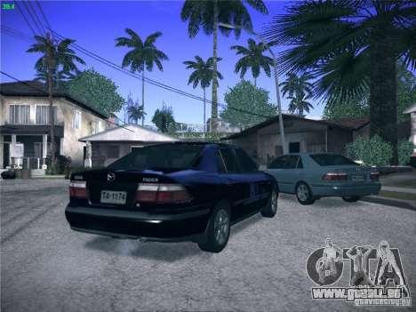 Mazda 626 GF 1999 pour GTA San Andreas vue de dessus