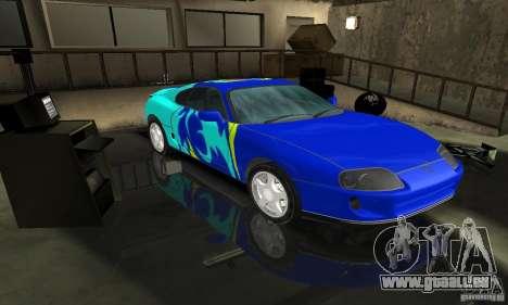 Toyota Supra Tuneable für GTA San Andreas Rückansicht