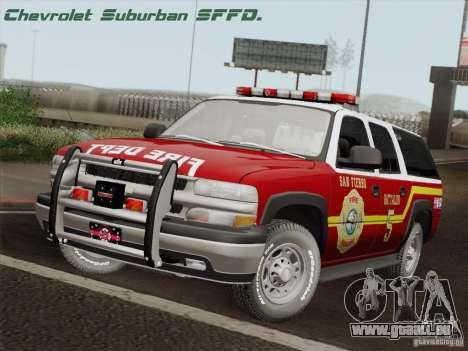 Chevrolet Suburban SFFD pour GTA San Andreas