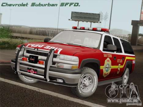 Chevrolet Suburban SFFD für GTA San Andreas