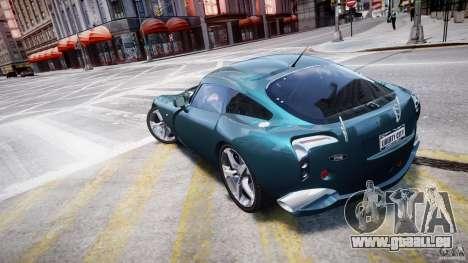 TVR Sagaris pour GTA 4 Vue arrière de la gauche