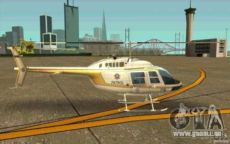 Bell 206 B Police texture4 pour GTA San Andreas sur la vue arrière gauche