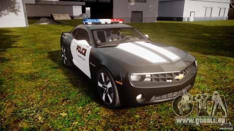 Chevrolet Camaro Police (Beta) pour GTA 4 Vue arrière