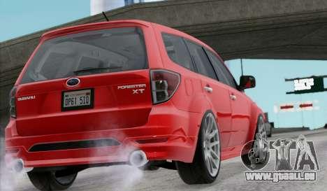 Subaru Forester RRT sport 2008 pour GTA San Andreas laissé vue