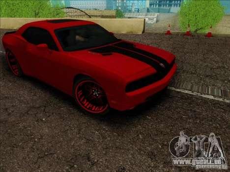 Dodge Quinton Rampage Jackson Challenger SRT8 v1 für GTA San Andreas Rückansicht