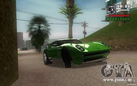 Lamborghini Miura Concept pour GTA San Andreas sur la vue arrière gauche