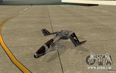 Hawk air Command and Conquer 3 pour GTA San Andreas laissé vue