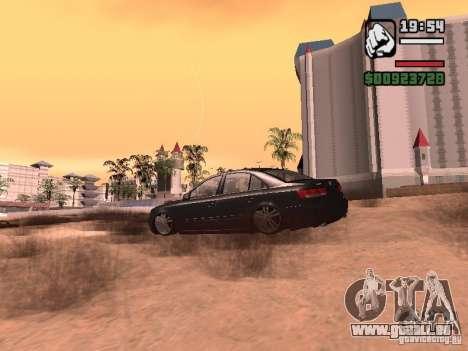 Hyundai Sonata Edit pour GTA San Andreas sur la vue arrière gauche