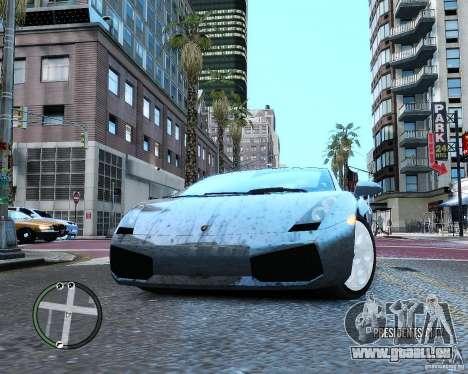 Lamborghini Gallardo 2005 pour GTA 4 est une vue de l'intérieur