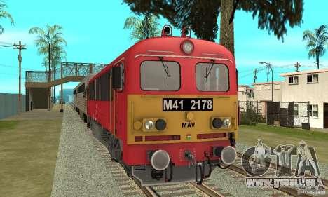 M41 Locomotive Diesel pour GTA San Andreas sur la vue arrière gauche