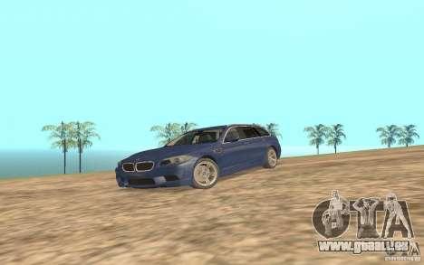 BMW M5 F11 Touring pour GTA San Andreas sur la vue arrière gauche