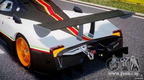 Pagani Zonda R 2009 Italian Stripes pour GTA 4 est une vue de dessous