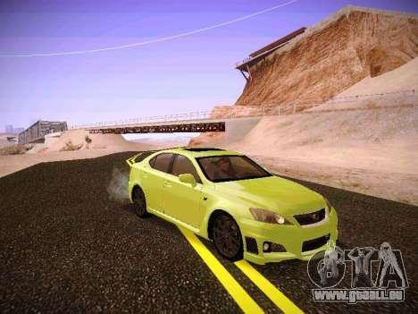 Lexus I SF pour GTA San Andreas laissé vue