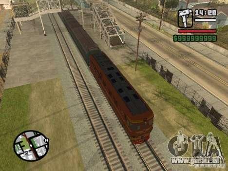 Lokomotive TEP-60 für GTA San Andreas linke Ansicht