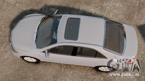 Toyota Camry Altise 2009 pour GTA 4 est un droit
