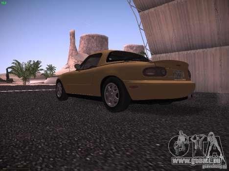 Mazda MX-5 1997 pour GTA San Andreas sur la vue arrière gauche