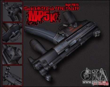 MP5K pour GTA San Andreas deuxième écran