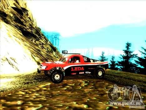 Toyota Tundra Rally pour GTA San Andreas sur la vue arrière gauche