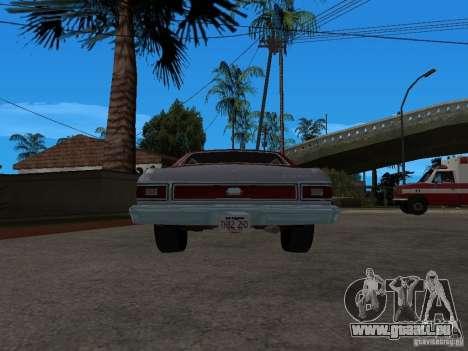 Ford Gran Torino 1976 für GTA San Andreas zurück linke Ansicht