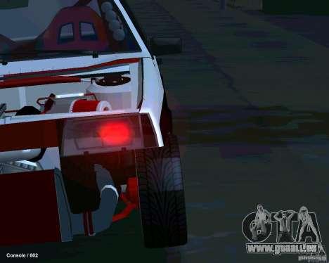 VAZ 2108 Drag pour GTA San Andreas vue de dessus