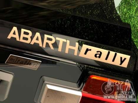 Fiat 131 Abarth Rally für GTA San Andreas zurück linke Ansicht