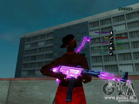 Purple chrome sur armes pour GTA San Andreas quatrième écran