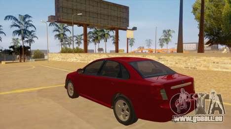 Buick Excelle pour GTA San Andreas sur la vue arrière gauche