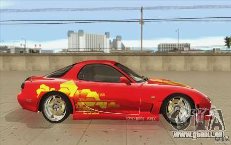 Mazda RX-7 - FnF2 für GTA San Andreas Innenansicht