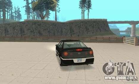 Chevrolet Impala 2003 pour GTA San Andreas laissé vue