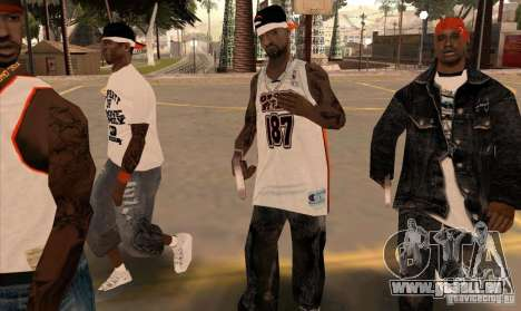 Bandes de remplacement, tatouages, vêtements, et pour GTA San Andreas dixième écran