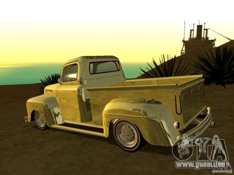 Ford Pick Up Custom 1951 LowRider pour GTA San Andreas laissé vue